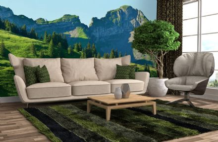 Swiss Mountains Gstaad wall mural wallpaper Premium